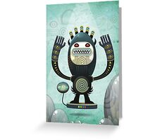 Alien Guard Greeting Card