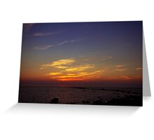 Sunset in Reigi Greeting Card