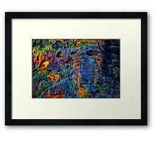 Blue Mountains Abstract -  The HDR Experience Framed Print