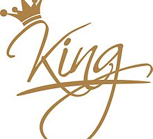 king text design logo cool chef Crown Gold by Style-O-Mat