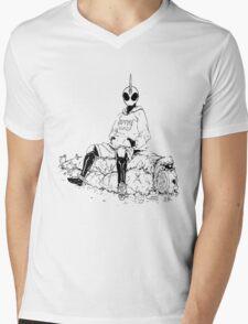 Saitama X Kamen Rider Ghost Mens V-Neck T-Shirt