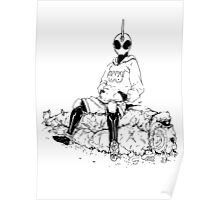 Saitama X Kamen Rider Ghost Poster