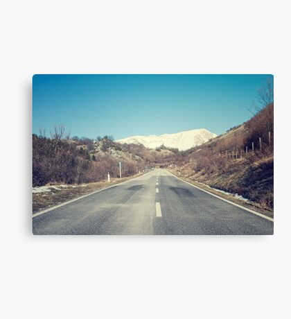 Road with mountain Canvas Print