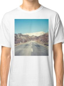 Road with mountain Classic T-Shirt
