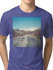 Road with mountain Tri-blend T-Shirt