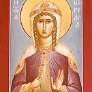 St Barbara by ikonographics