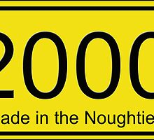 Born in the Noughties T-shirt ~ 2000s Car License Plate Card by deanworld