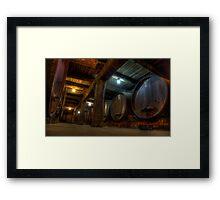 Winery Cellar Framed Print