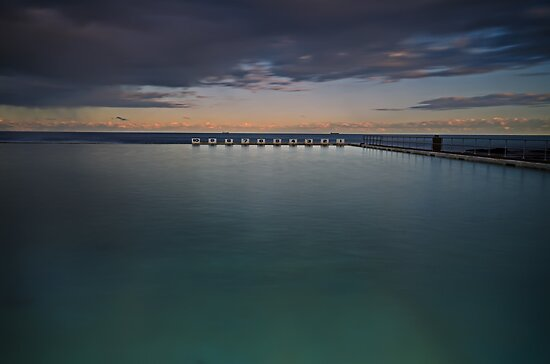 Line up!  Merewether Ocean Baths. by bazcelt