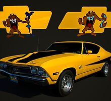 """Taz"" 1968 Chevelle SS 427 by TeeMack"