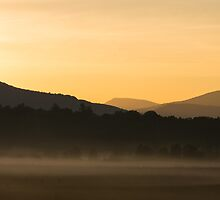 Dawn over the Mountains, Cades Cove, Smoky Mountains National Park by Mike Koenig
