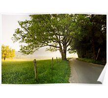 Around the Bend, Cades Cove, Smoky Mountains National Park Poster