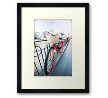 Day 5 - Wide Wednesday - Red Bicycle Framed Print