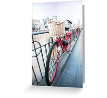 Day 5 - Wide Wednesday - Red Bicycle Greeting Card
