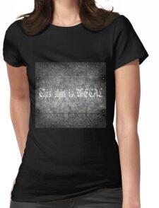 Metal shirt!!!!!!!11 Womens Fitted T-Shirt