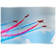 Synchronised Flying ~ Red Arrows Poster