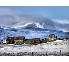 Highland Croft in Winter Photographic Print