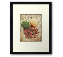 Fruit and Veg Framed Print