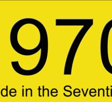 70s Number License Plate T-Shirt ~ 1970 ~ Born in the Seventies Clothing Sticker