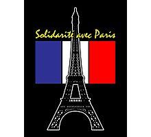 Solidarity with Paris Photographic Print