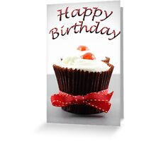 Happy Birthday, Cherry Cupcake Greeting Card