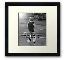 """Ecclesiastes 12:1""  by Carter L. Shepard Framed Print"