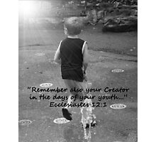 """Ecclesiastes 12:1""  by Carter L. Shepard Photographic Print"