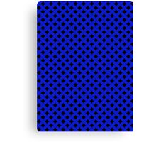Basket Weave in Blue Canvas Print