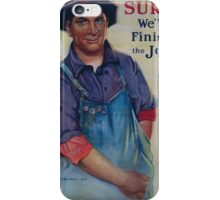 Sure! Well finish the job Victory Liberty Loan 002 iPhone Case/Skin