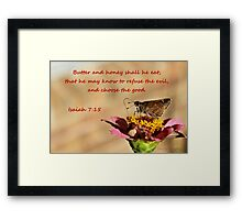 That He May Know to Refuse the Evil Framed Print