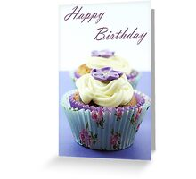 Floral Cupcake Greeting Card