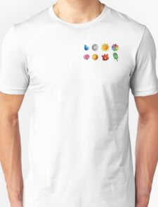 Pokemon Badges (Kanto Only) Unisex T-Shirt