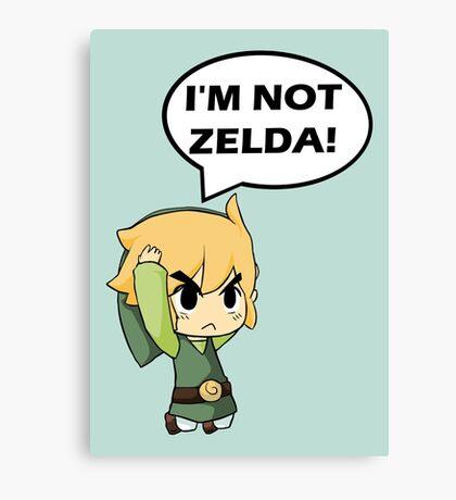 I'm Not Zelda Canvas Print