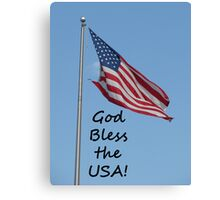 """God Bless the USA!""  by Carter L. Shepard Canvas Print"