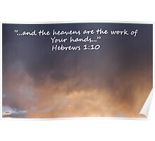 """Hebrews 1:10""  by Carter L. Shepard Poster"