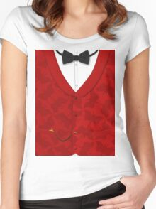 Victoriana - Bow Tie, Waistcoat and Watch Women's Fitted Scoop T-Shirt