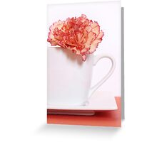 Carnation in Teacup Greeting Card