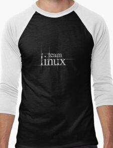 Team Linux Men's Baseball ¾ T-Shirt