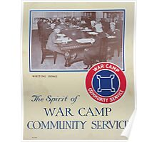 The spirit of War Camp Community Service Poster