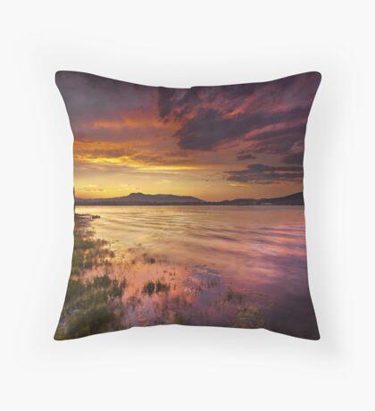 Electric Twilight Throw Pillow