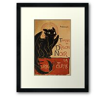Le Dragon Noir Framed Print