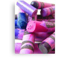 Crayola Crayon Columns Lay in Ruins Canvas Print