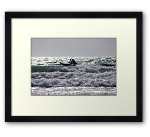 Sea Kayaking Framed Print