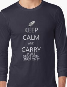 Keep Calm and Carry Linux Long Sleeve T-Shirt