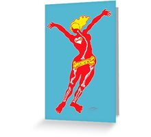 Heartbone - neon Greeting Card
