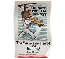 The Navy put em across The service for travel and training ages 17 to 35 002 Poster