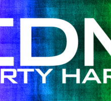 EDM PARTY HARD (COLOURS) Sticker