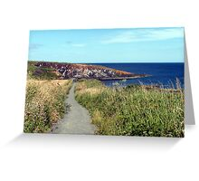 74 - CULLERNOSE POINT, NORTHUMBERLAND (D.E. 2012) Greeting Card