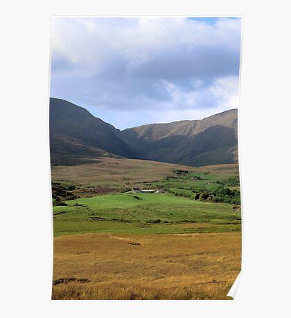 beautiful lush farm in ireland Poster