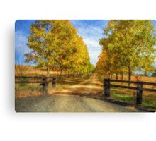 Country Roads Take Me Home - Uralla NSW - The HDR Experience Canvas Print